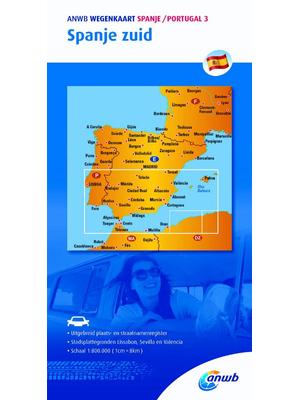 ANWB Wegenkaart Spanje zuid