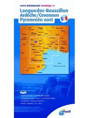 ANWB Wegenkaart Languedoc-Roussillon, Ardèche-Cevennen en Pyreneeën oost
