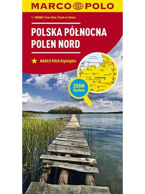 Marco Polo wegenkaart Noord-Polen