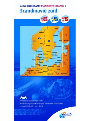 ANWB Wegenkaart Scandinavië zuid