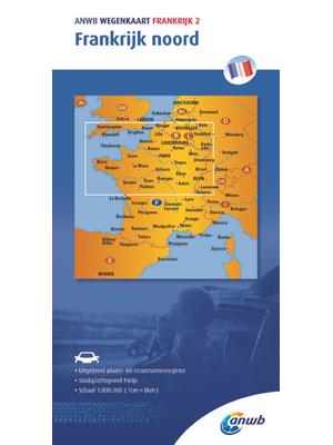 ANWB Wegenkaart Frankrijk noord