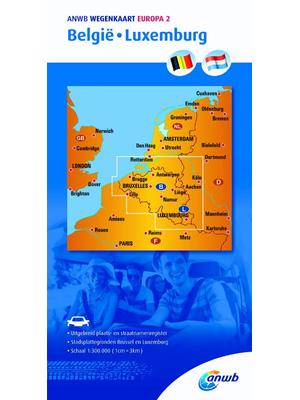 ANWB Wegenkaart België en Luxemburg