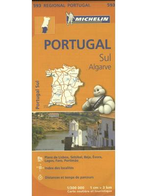 Michelin wegenkaart Regional 593 Portugal zuid-Algarve