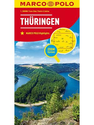 Marco Polo wegenkaart Thüringen