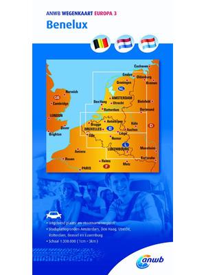 ANWB Wegenkaart Benelux
