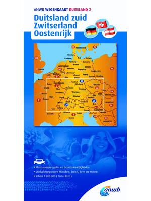 ANWB Wegenkaart Duitsland Zuid, Zwitserland en Oostenrijk | ANWB Webwinkel