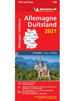 Michelin Wegenkaart 718 Duitsland 2021