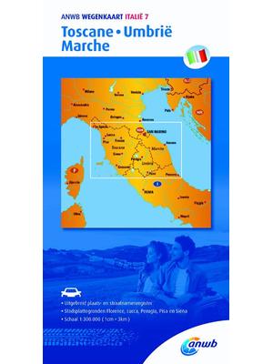 ANWB Wegenkaart Toscane, Umbrië en Marche