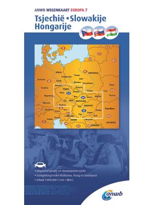 ANWB Wegenkaart Tsjechië, Slowakije, Hongarije