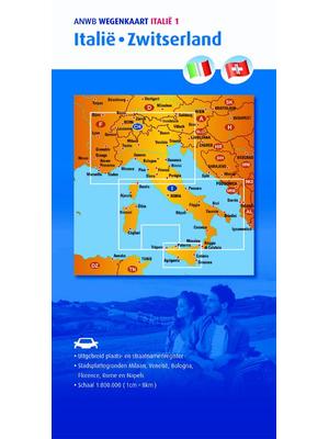 ANWB Wegenkaart Italië en Zwitserland