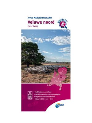ANWB Wandelkaart Veluwe Noord