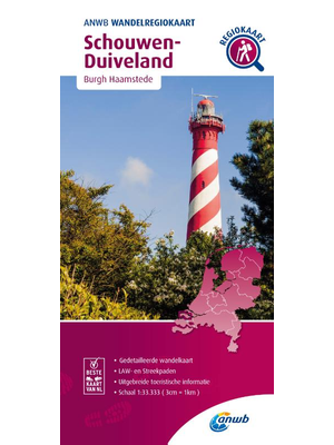 ANWB Wandelkaart Schouwen Duiveland