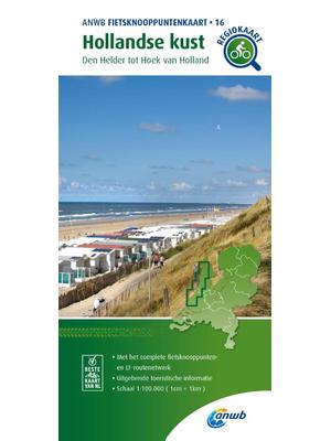 ANWB Knooppuntenkaart 16 Hollandse Kust