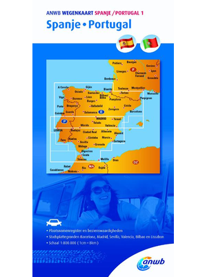 ANWB Wegenkaart Spanje-Portugal