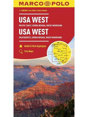 Marco Polo wegenkaart USA west