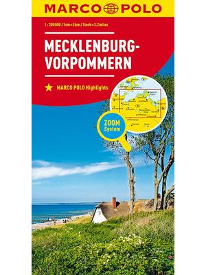 Marco Polo wegenkaart Mecklenburg-Vorpommern