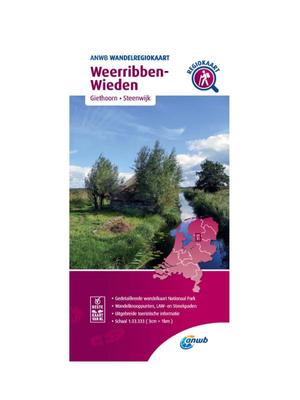 ANWB Wandelkaart Weerribben- Wieden