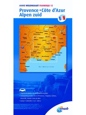 ANWB Wegenkaart Provence, Côte d'Azur en Alpen zuid