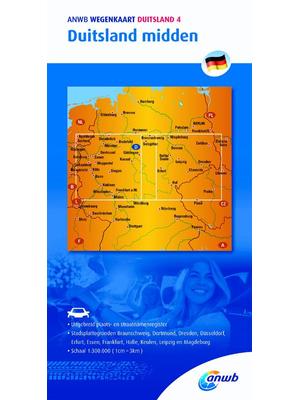 ANWB Wegenkaart Duitsland Midden