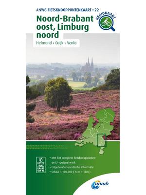 ANWB Knooppuntenkaart 22 Noord-Brabant en Limburg-Noord