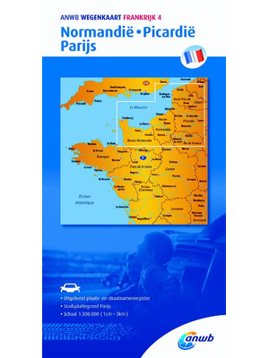 ANWB Wegenkaart Normandië, Picardiië, Parijs