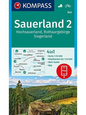 Kompass wandelkaart 842 Sauerland 2
