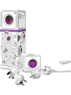 PowerCube Rewirable DUO-USB Multifunctionele reisstekker