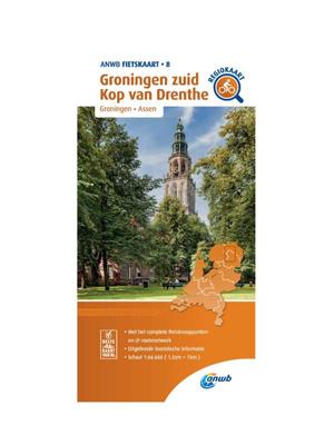 ANWB Fietskaart 8- Groningen Zuid - Kop van Drenthe
