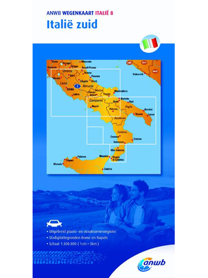 ANWB Wegenkaart Italië zuid