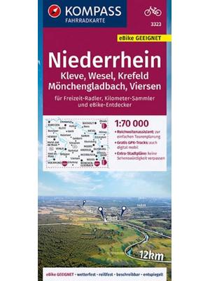 Kompass fietskaart 3323 Niederrhein