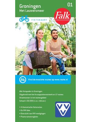 Falk fietskaart 1 Groningen