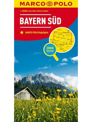 Marco Polo wegenkaart Beieren Zuid