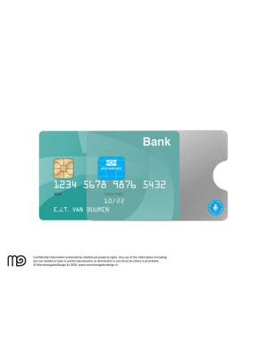 RFID cover bankpas