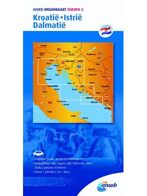 ANWB Wegenkaart Kroatië, Istrië, Dalmatië