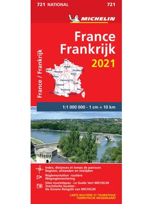 Michelin Wegenkaart 721 Frankrijk 2021