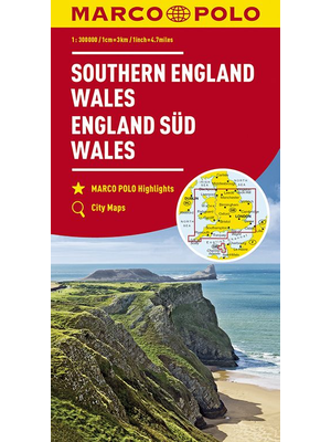 Marco Polo wegenkaart Zuid-Engeland en Wales