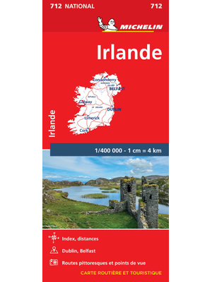 Wegenkaart  Ierland  – 712 – Michelin National