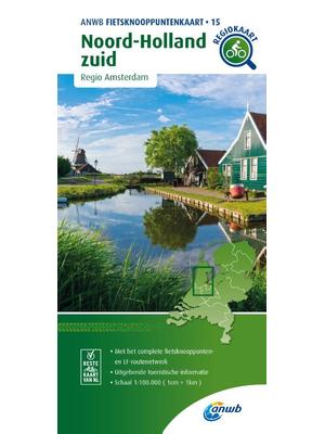 ANWB Knooppuntenkaart 15 Noord-Holland-Zuid