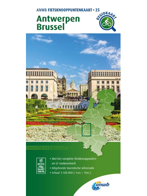 ANWB Knooppuntenkaart 25 Antwerpen en Brussel