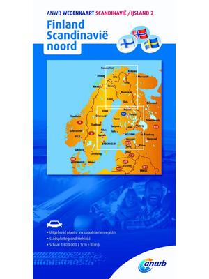 ANWB Wegenkaart Finland en Scandinavië noord