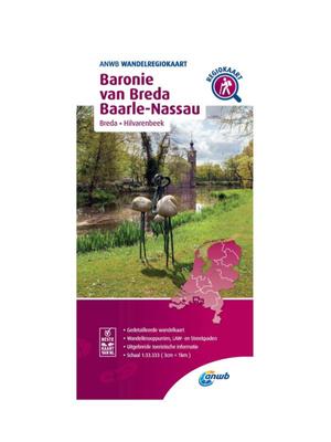 ANWB Wandelkaart Baronie van Breda en Baarle-Nassau