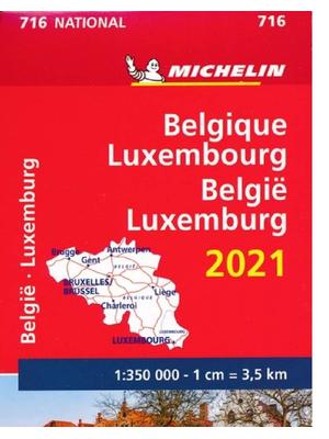 Michelin wegenkaart 716 België - Luxemburg 2021