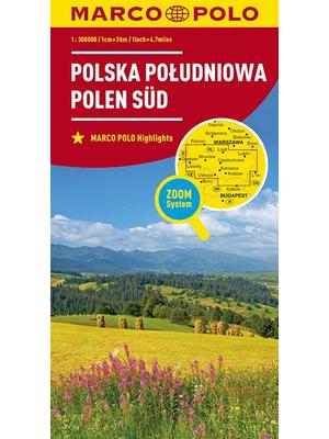 Marco Polo wegenkaart Zuid-Polen