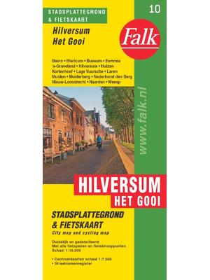 Falk fietskaart en stadsplattegrond Hilversum het Gooi