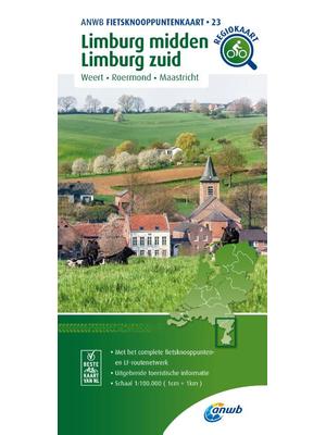 ANWB Knooppuntenkaart 23 Limburg Midden- en Zuid
