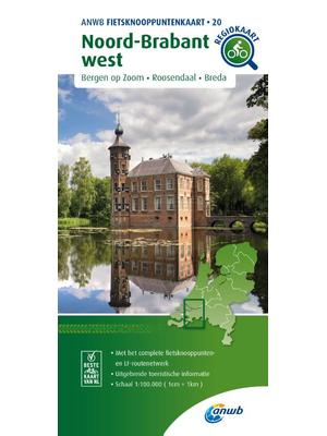 ANWB Knooppuntenkaart 20 Noord-Brabant West