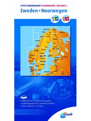 ANWB Wegenkaart Zweden-Noorwegen