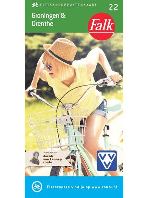 Falk fietskaart Groningen en Drenthe