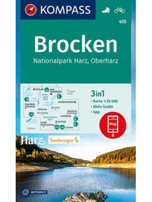 Kompass wandelkaart 455 Brocken, Harz, Oberharz