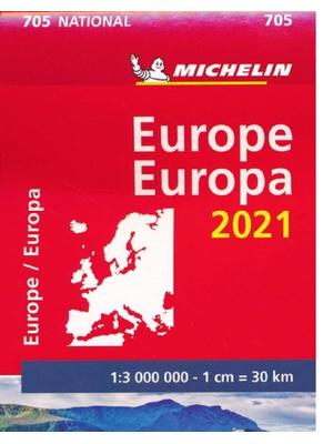 Michelin wegenkaart 705 Europa 2021